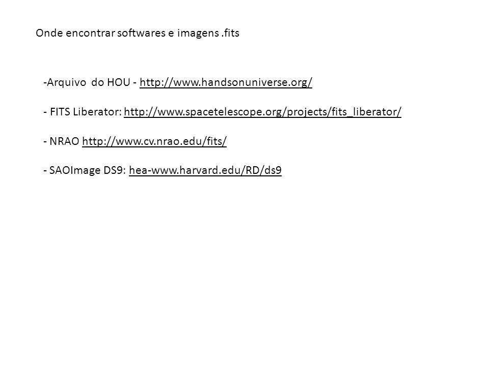 Onde encontrar softwares e imagens .fits