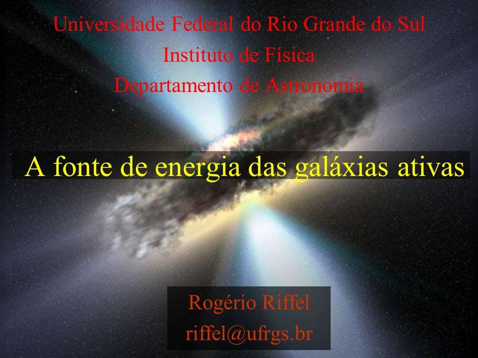 A fonte de energia das galáxias ativas