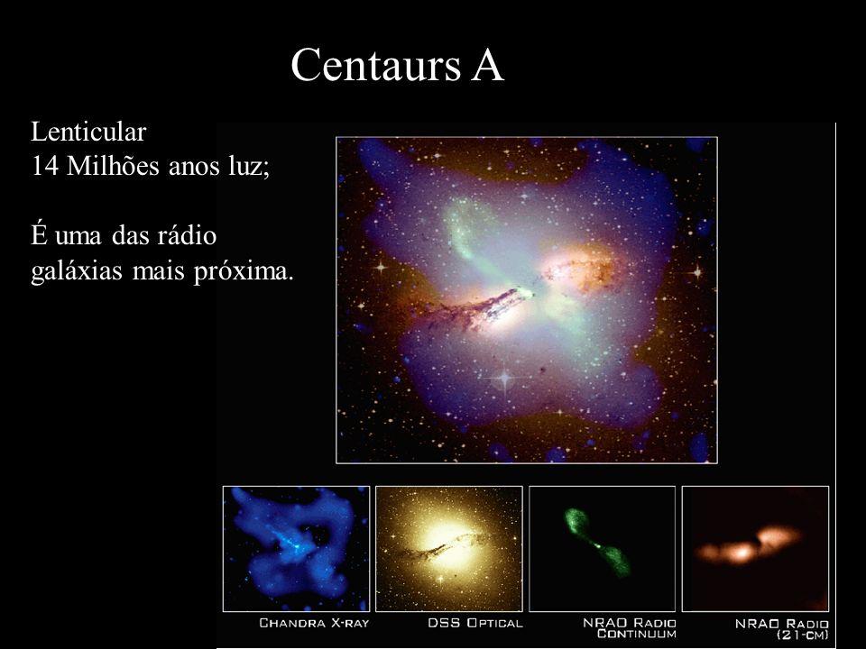 Centaurs A Lenticular 14 Milhões anos luz;