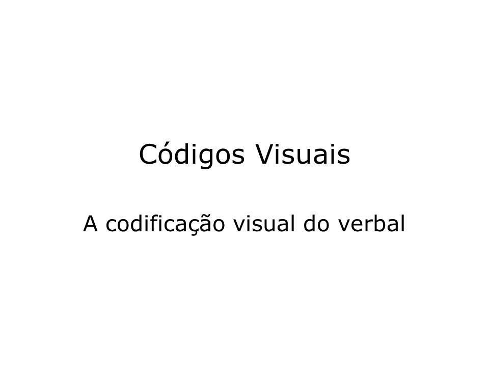 A codificação visual do verbal