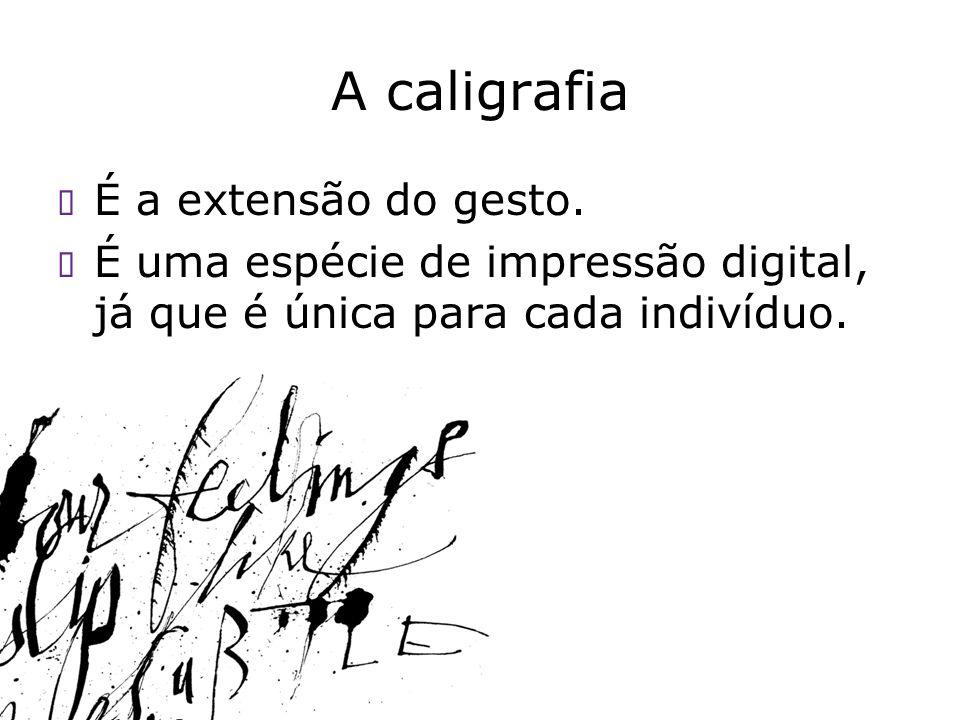 A caligrafia É a extensão do gesto.