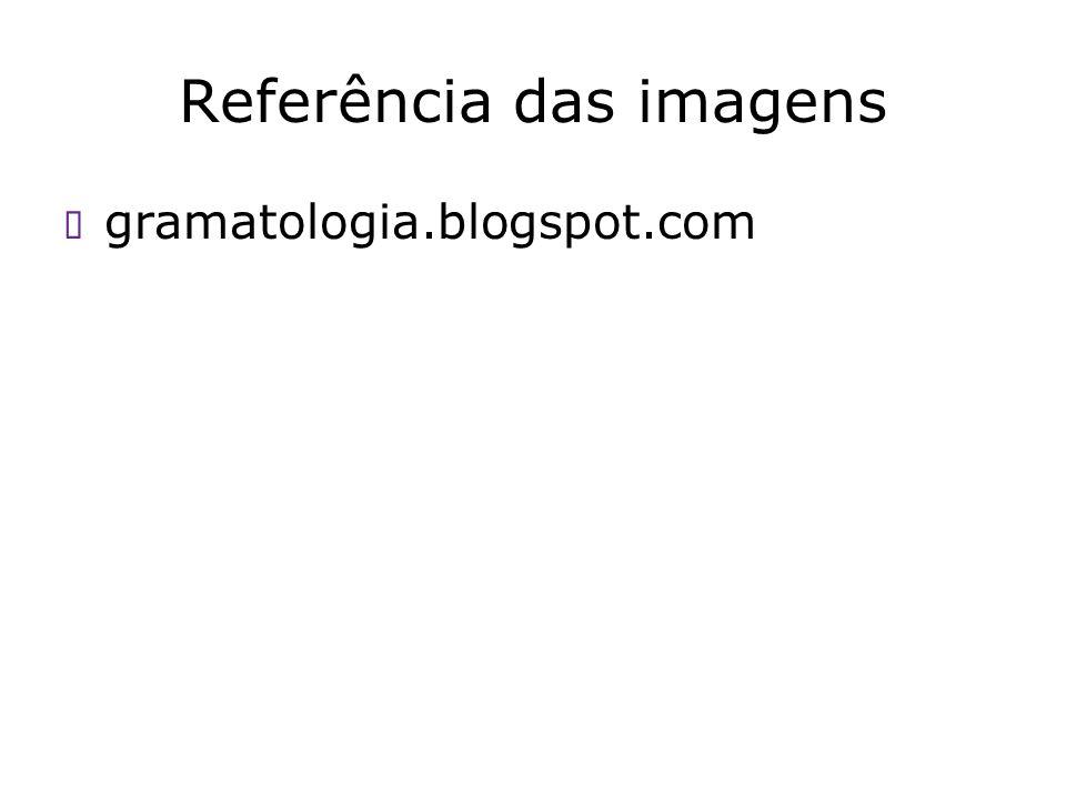 Referência das imagens