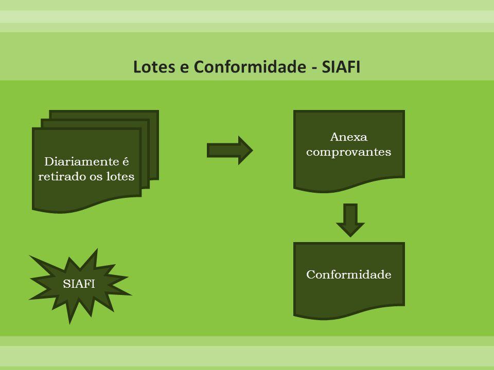 Lotes e Conformidade - SIAFI