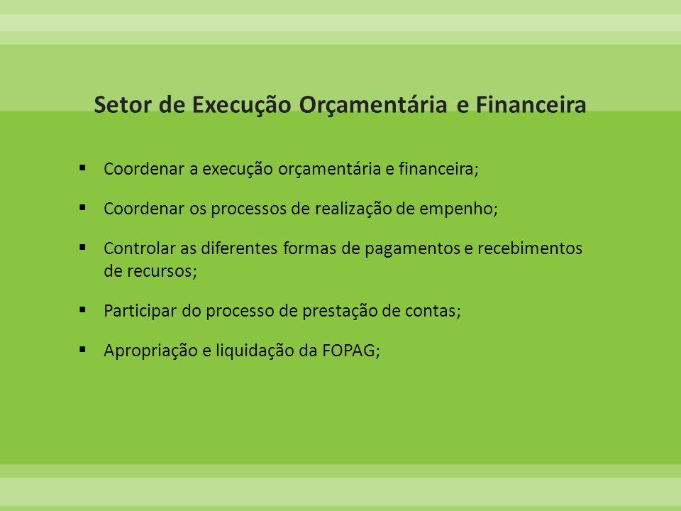 Setor de Execução Orçamentária e Financeira