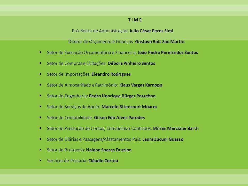 Pró-Reitor de Administração: Julio César Peres Simi