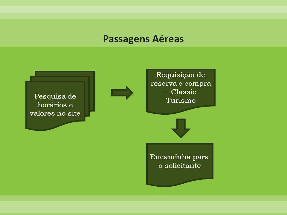Passagens Aéreas Requisição de reserva e compra – Classic Turismo