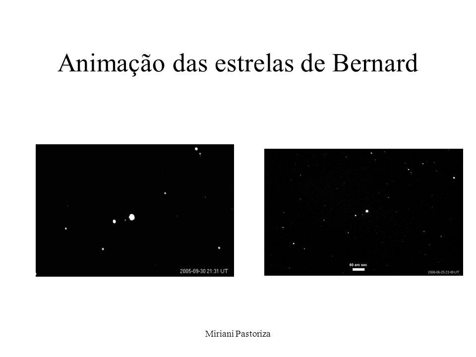Animação das estrelas de Bernard