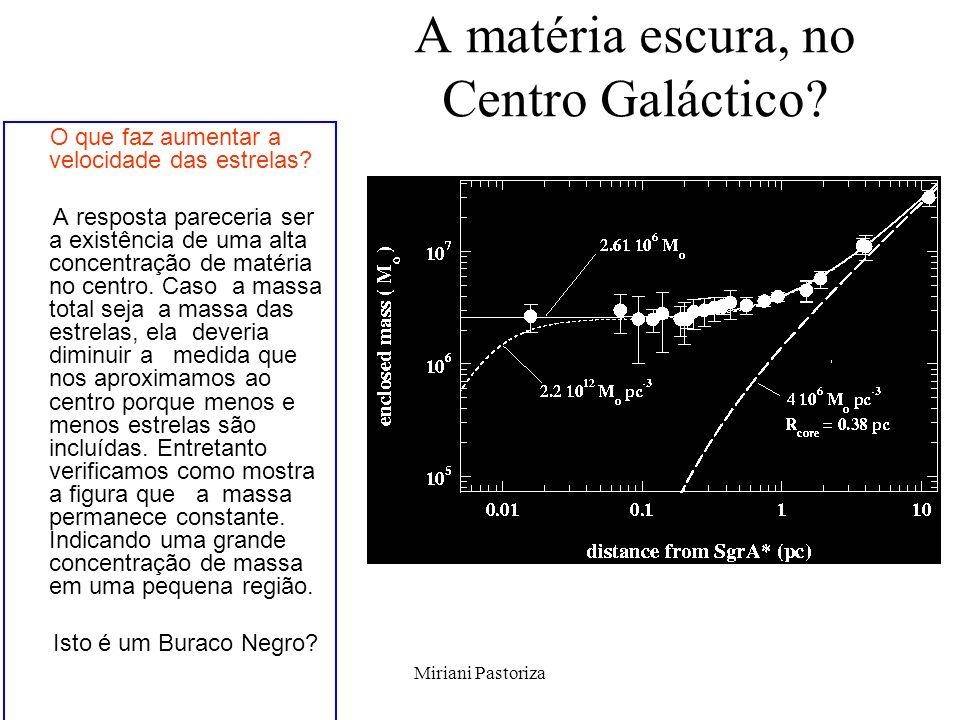 A matéria escura, no Centro Galáctico