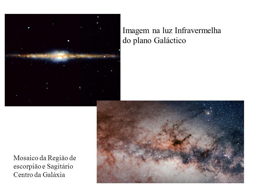 Imagem na luz Infravermelha do plano Galáctico