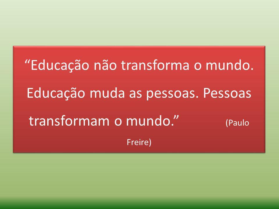Educação não transforma o mundo. Educação muda as pessoas