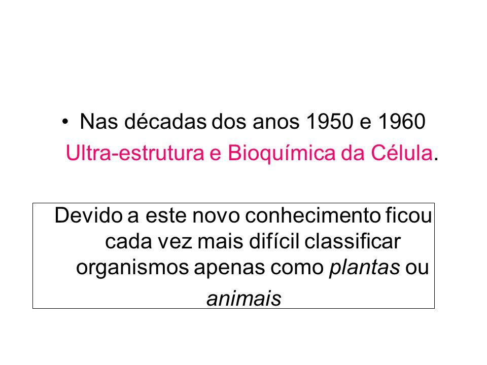 Ultra-estrutura e Bioquímica da Célula.
