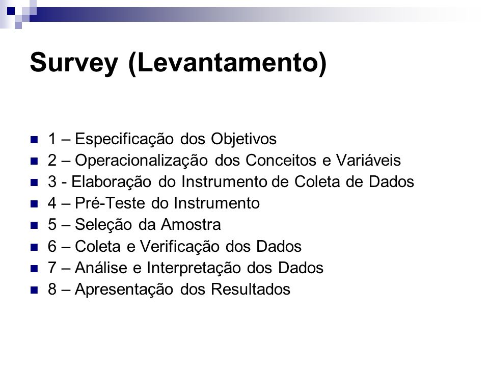 Survey (Levantamento)