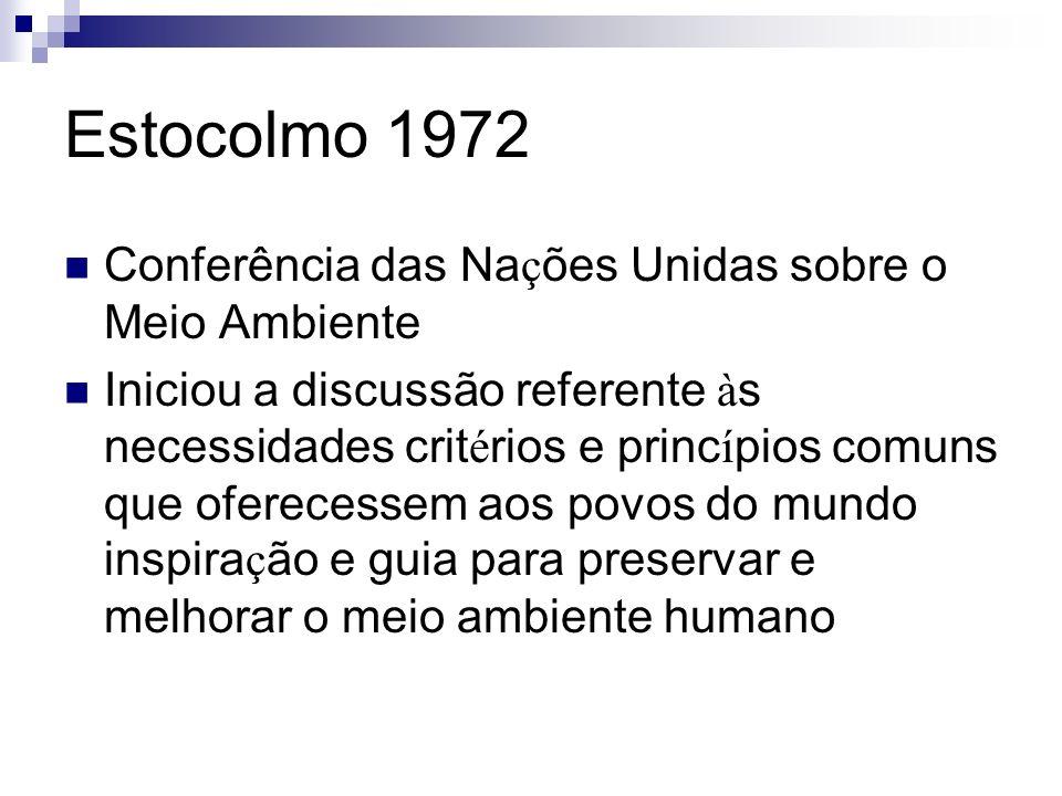 Estocolmo 1972 Conferência das Nações Unidas sobre o Meio Ambiente