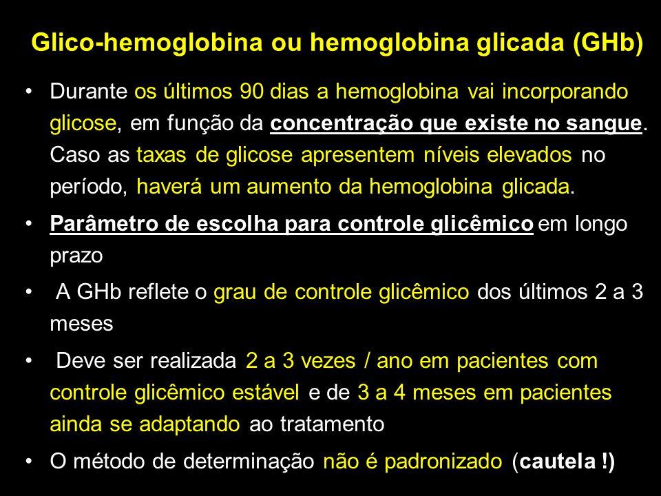 Glico-hemoglobina ou hemoglobina glicada (GHb)