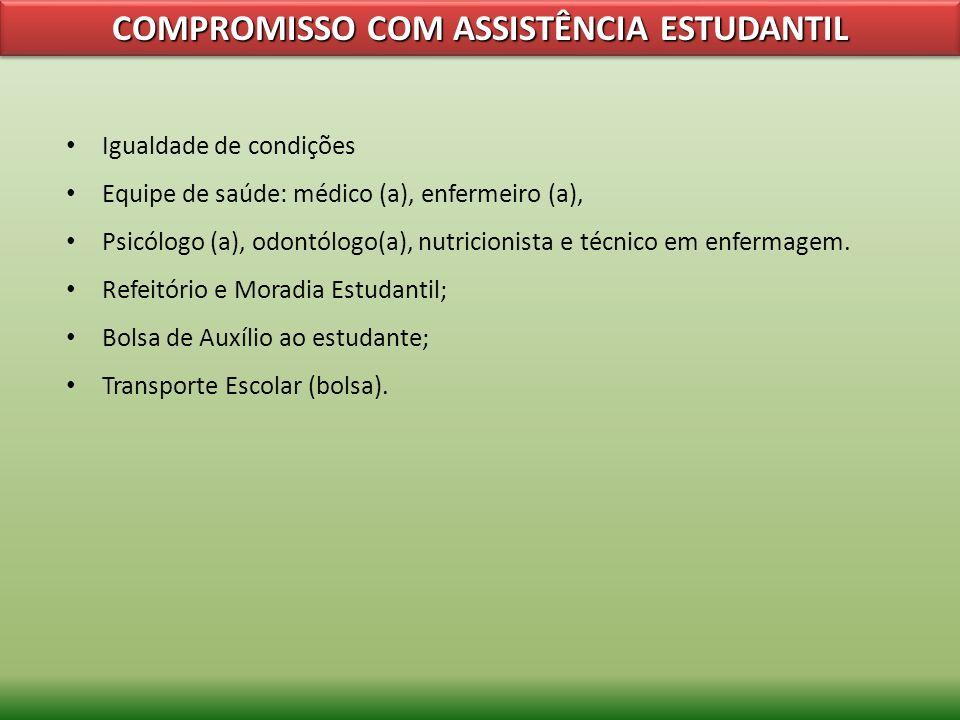 COMPROMISSO COM ASSISTÊNCIA ESTUDANTIL