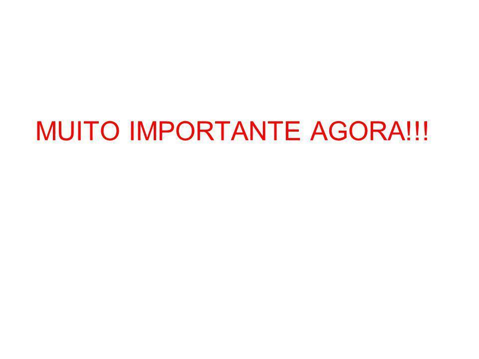 MUITO IMPORTANTE AGORA!!!