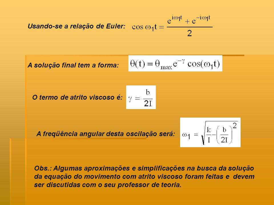 Usando-se a relação de Euler: