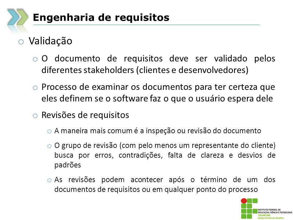 Validação Engenharia de requisitos