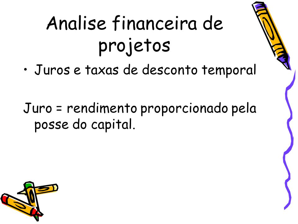 Analise financeira de projetos