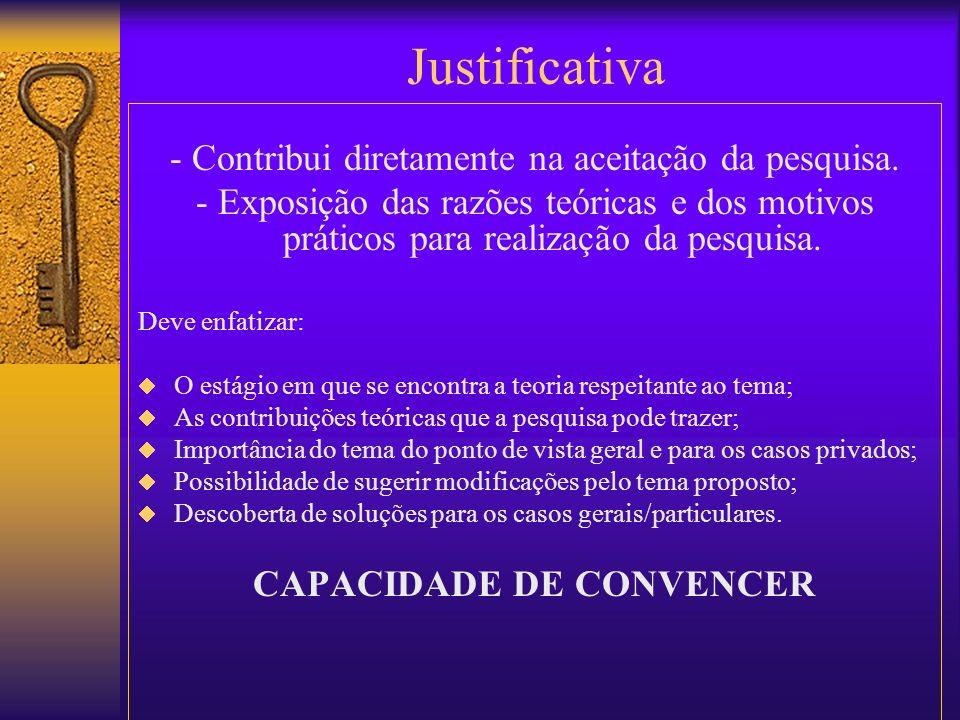 CAPACIDADE DE CONVENCER
