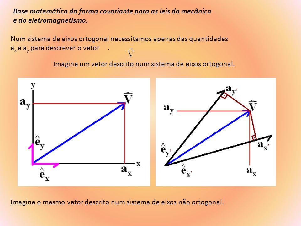 Base matemática da forma covariante para as leis da mecânica