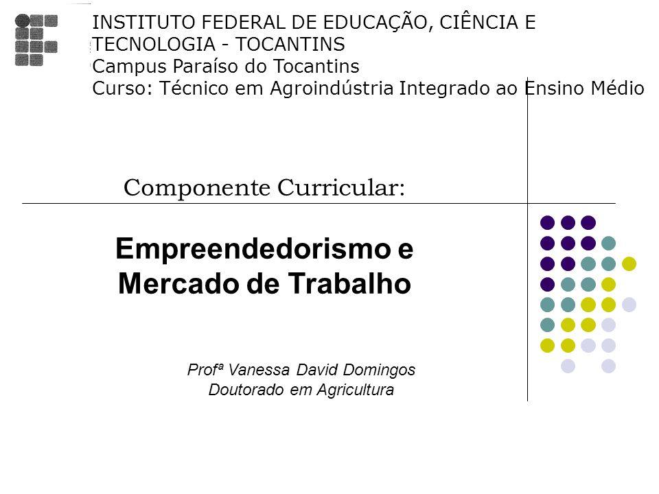 Empreendedorismo e Mercado de Trabalho Componente Curricular:
