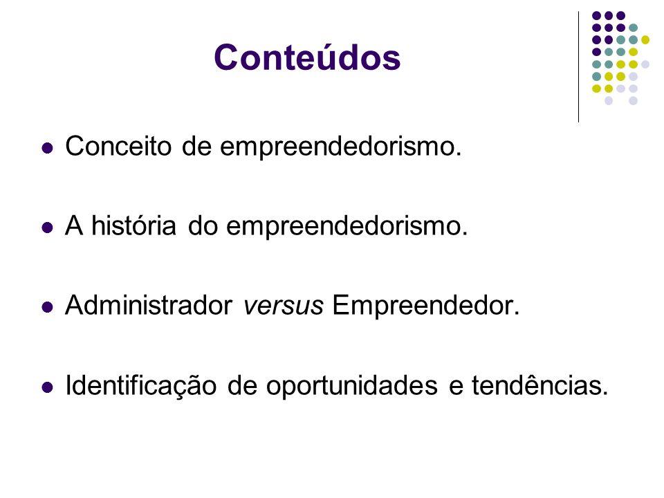Conteúdos Conceito de empreendedorismo.