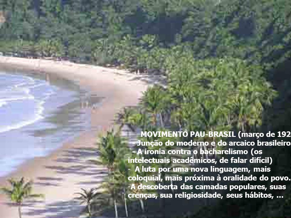 MOVIMENTO PAU-BRASIL (março de 1924)