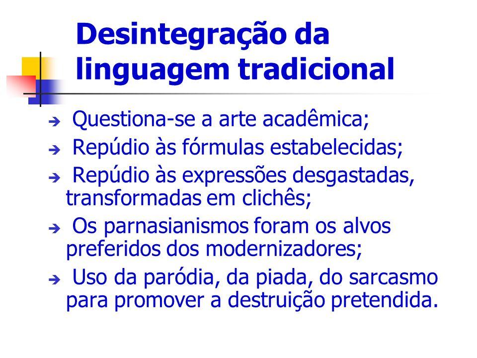 Desintegração da linguagem tradicional