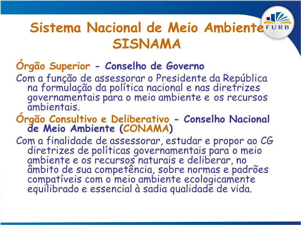 Sistema Nacional de Meio Ambiente SISNAMA