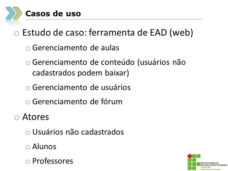 Estudo de caso: ferramenta de EAD (web)