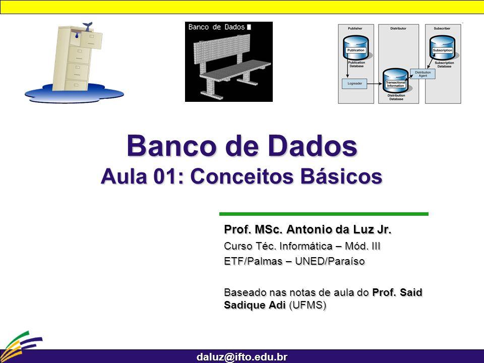 Banco de Dados Aula 01: Conceitos Básicos