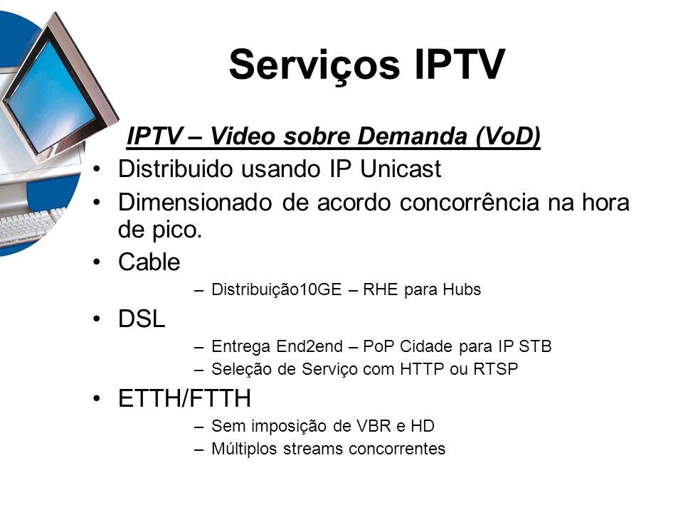 Serviços IPTV IPTV – Video sobre Demanda (VoD)