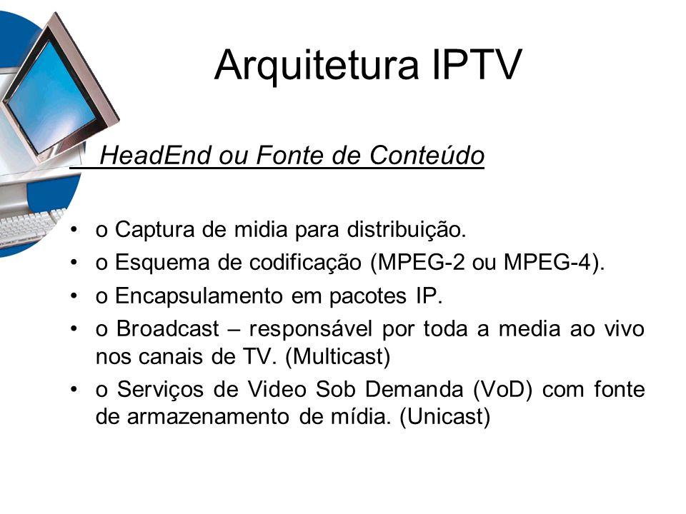 Arquitetura IPTV HeadEnd ou Fonte de Conteúdo