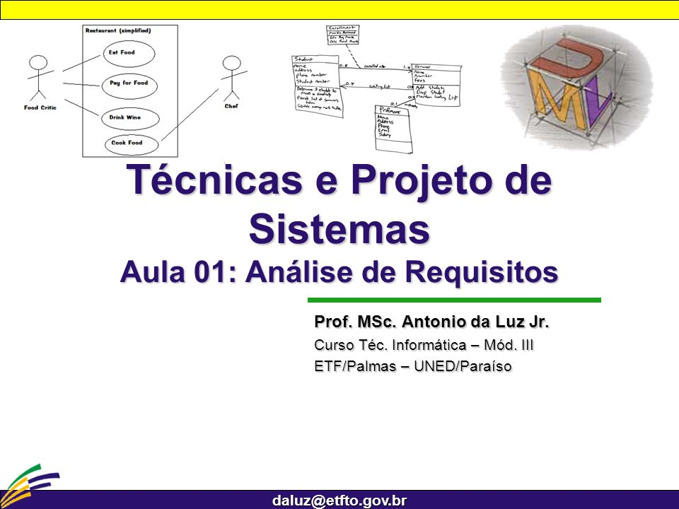 Técnicas e Projeto de Sistemas Aula 01: Análise de Requisitos