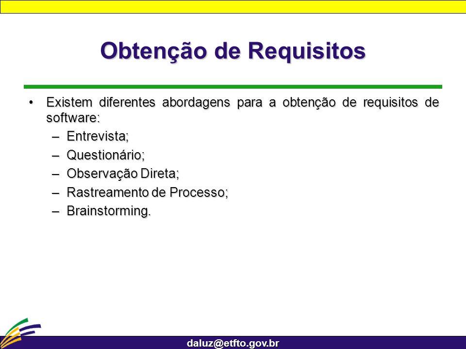 Obtenção de Requisitos