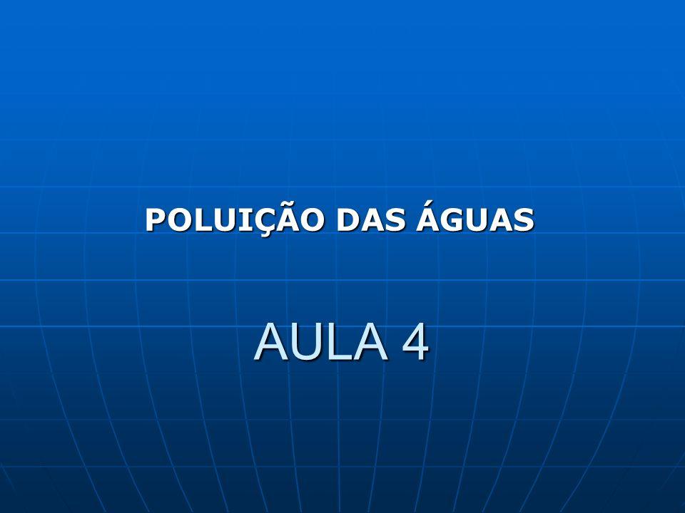 POLUIÇÃO DAS ÁGUAS AULA 4
