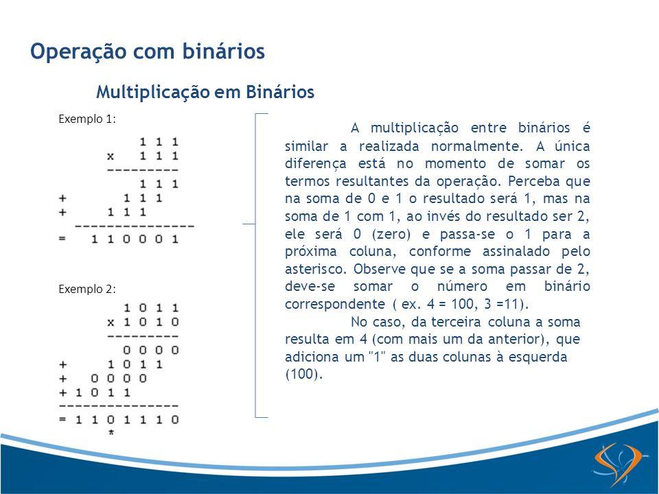 Multiplicação em Binários