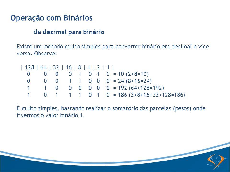 de decimal para binário