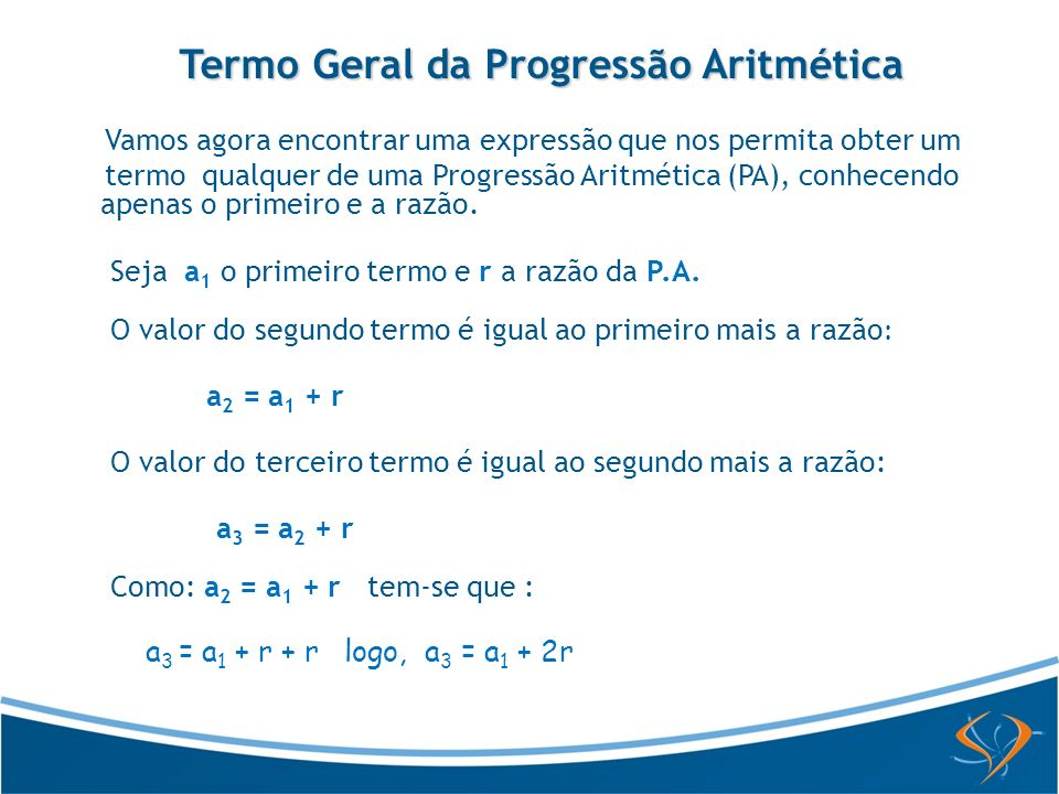 Termo Geral da Progressão Aritmética
