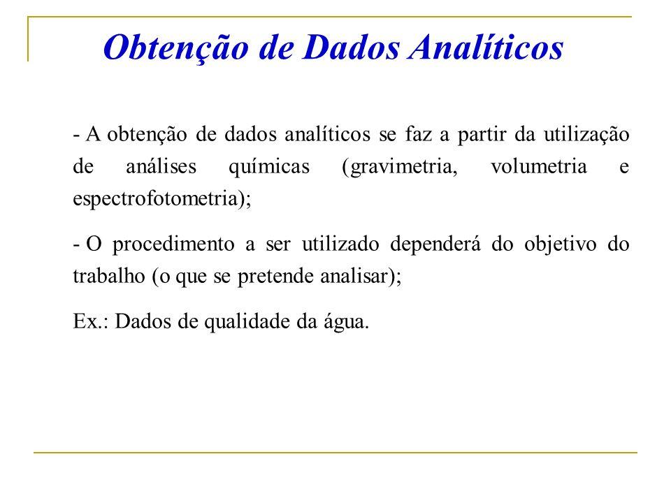 Obtenção de Dados Analíticos