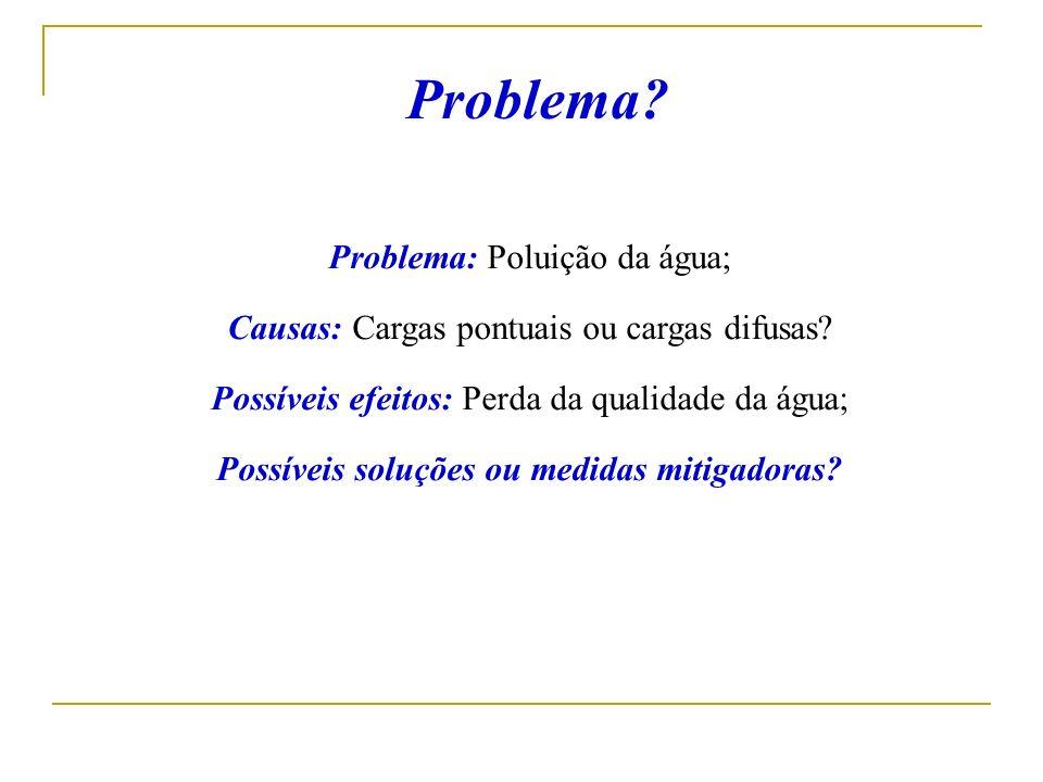 Problema Problema: Poluição da água;