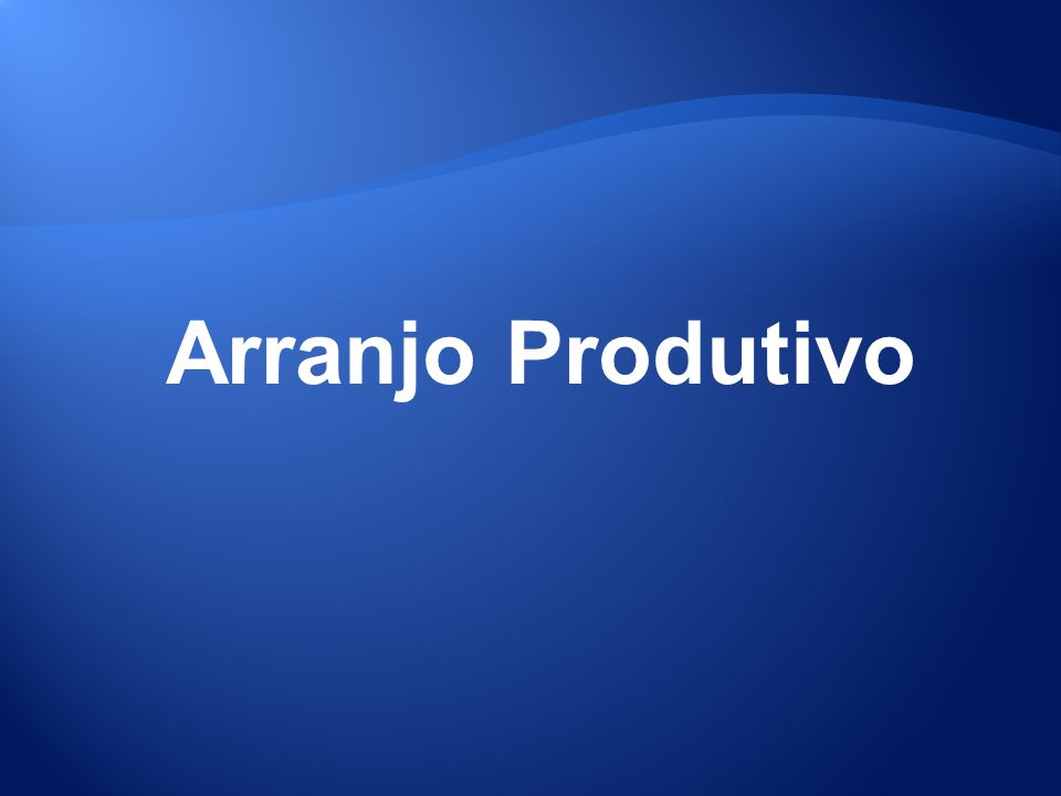 Arranjo Produtivo