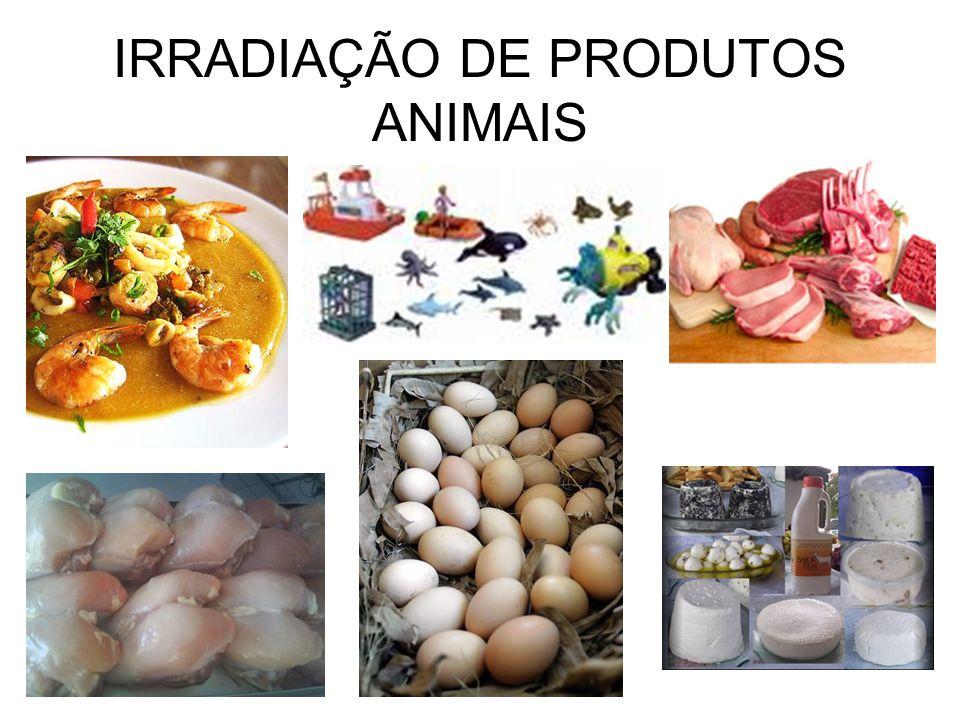 IRRADIAÇÃO DE PRODUTOS ANIMAIS
