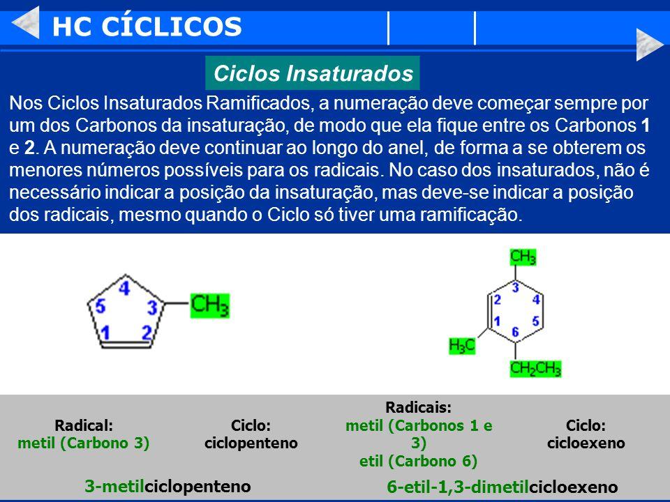 HC CÍCLICOS Ciclos Insaturados