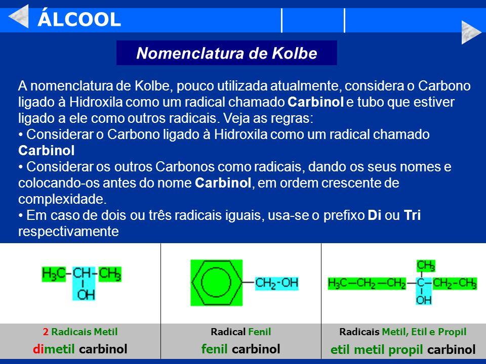 Radicais Metil, Etil e Propil etil metil propil carbinol