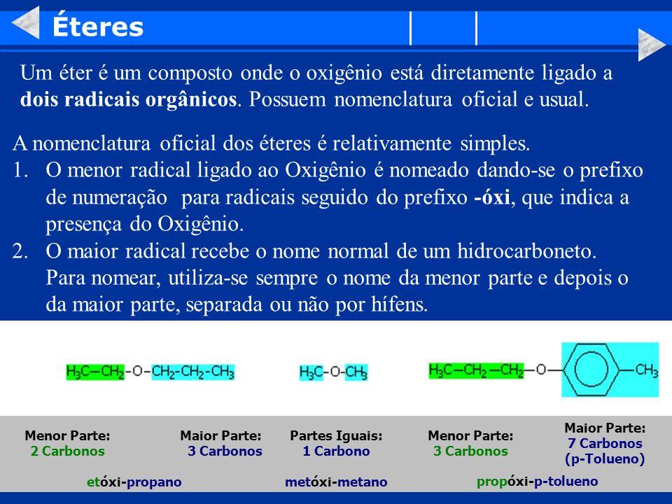 Partes Iguais: 1 Carbono Maior Parte: 7 Carbonos (p-Tolueno)
