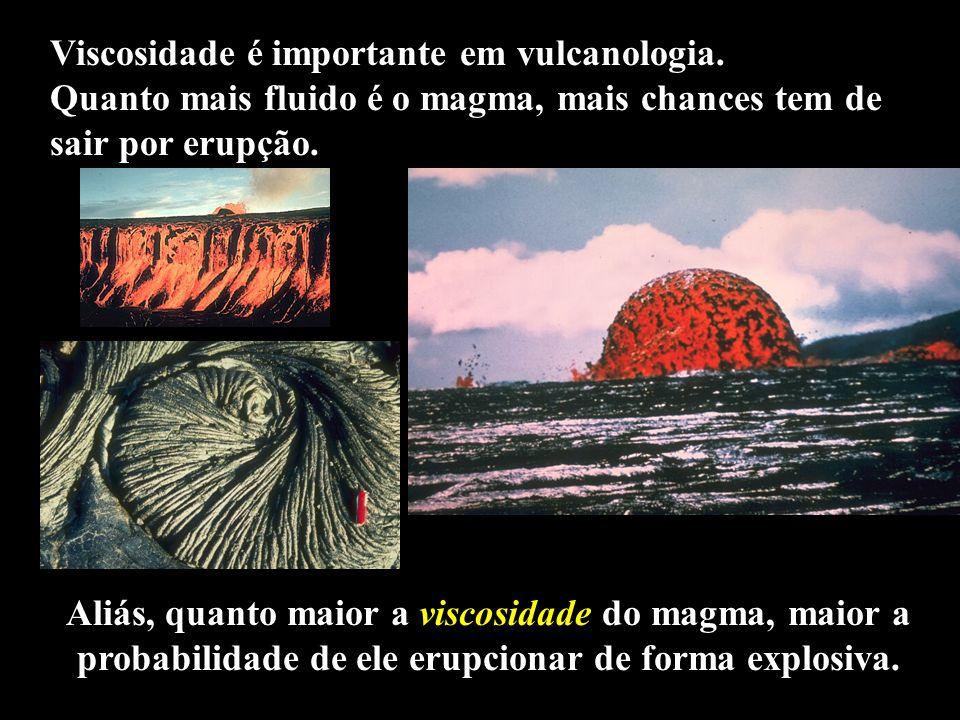 Viscosidade é importante em vulcanologia.