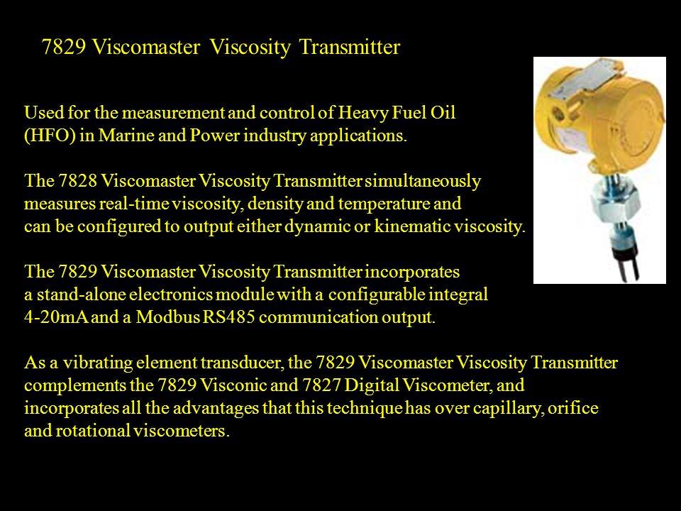 7829 Viscomaster Viscosity Transmitter