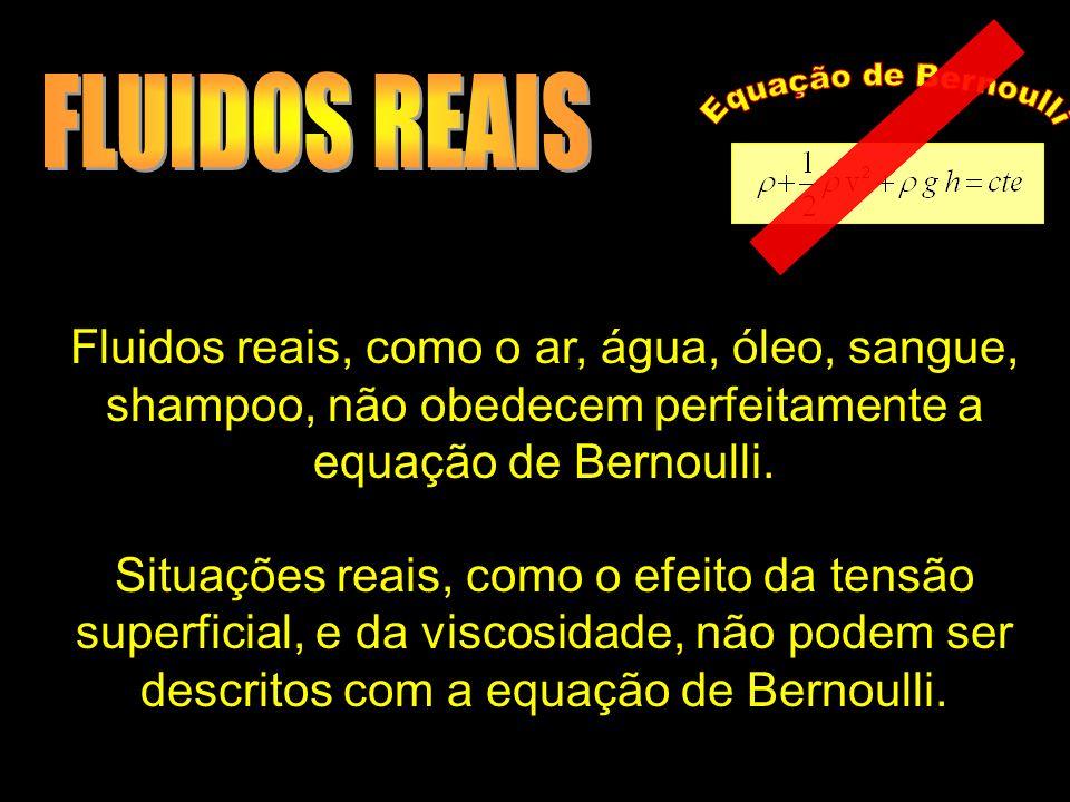FLUIDOS REAIS Equação de Bernoulli